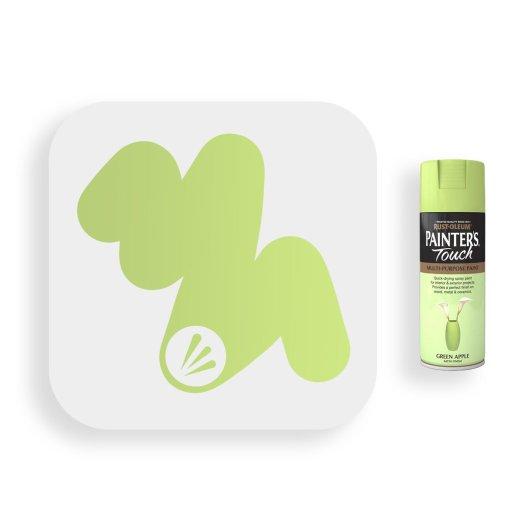 Rust-Oleum-Green-Apple-Satin-Spray-Paint-400ml-Painters-Touch-Swatch