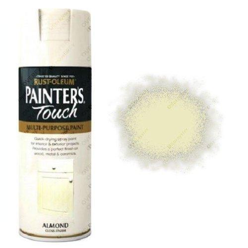 Rust-Oleum Painter's Touch Almond White Spray Paint Gloss 400ml