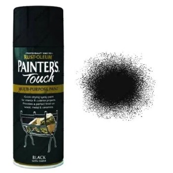 Rust-Oleum-Painter's-Touch-Black-Satin-Spray-Paint-400ml-
