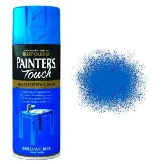 Rust-Oleum-Painter's-Touch-Brilliant-Blue-Spray-Paint-Gloss-400ml-