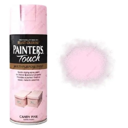 Rust-Oleum Painters Touch Candy Pink Spray Paint Gloss 400ml