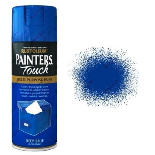 Rust-Oleum-Painter's-Touch-Deep-Blue-Spray-Paint-Gloss-400ml