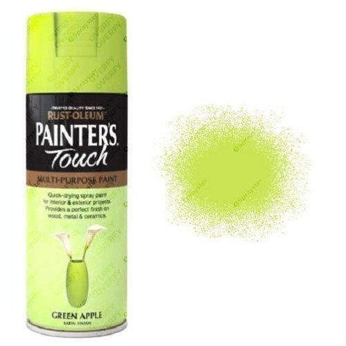 Rust-Oleum Painter's Touch Green Apple Spray Paint Satin 400ml
