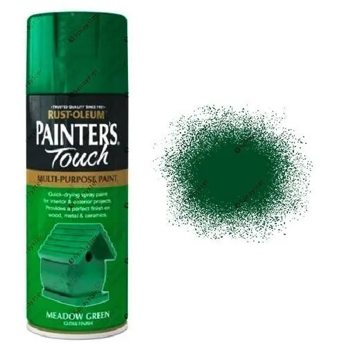 Rust-Oleum Painter's Touch Meadow Green Spray Paint Gloss 400ml