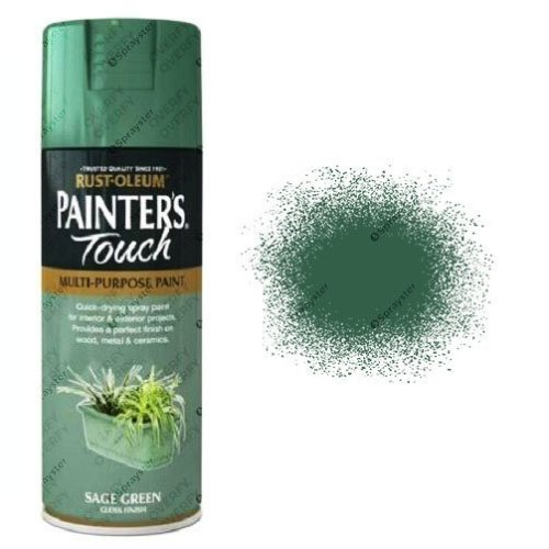 Rust-Oleum-Painters-Touch-Sage-Green-Spray-Paint-Gloss-400ml-