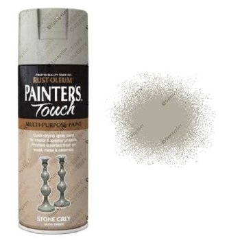 Rust-Oleum-Painters-Touch-Stone-Grey-Spray-Paint-Satin-400ml-