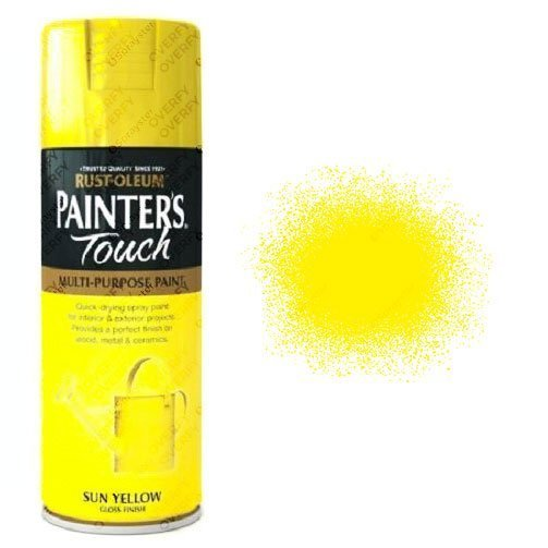 Rust-Oleum Painters Touch Sun Yellow Spray Paint Gloss 400ml