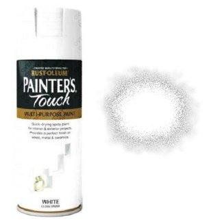 Rust-Oleum-Painter's-Touch-White-Gloss-Spray-Paint-400ml