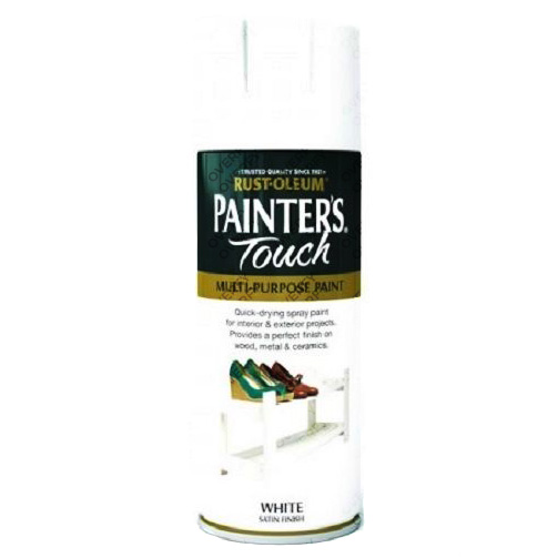 Rust-Oleum Painter's Touch White Satin Spray Paint 400ml