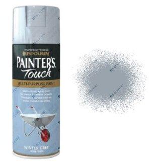 Rust-Oleum-Painter's-Touch-Winter-Grey-Spray-Paint-Gloss-400ml-