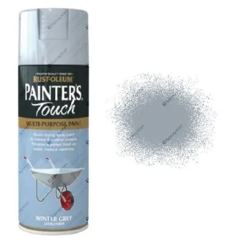 Rust-Oleum-Painter's-Touch-Winter-Grey-Spray-Paint-Gloss-400ml-
