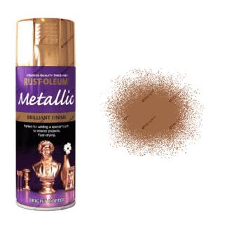 Rust-Oleum Premium 400ml Metallic Bright Copper Spray Paint