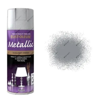 Rust-Oleum Premium Metallic Silver Spray Paint 400ml