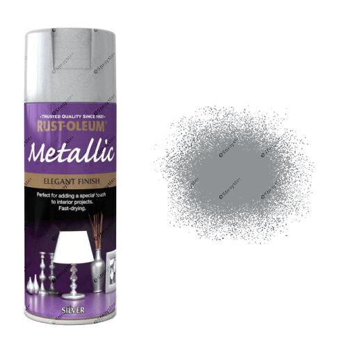 Rust-Oleum Premium Metallic Silver Spray Paint 400ml