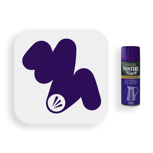 Rust-Oleum-Purple-Gloss-Spray-Paint-400ml-Painters-Touch-Swatch