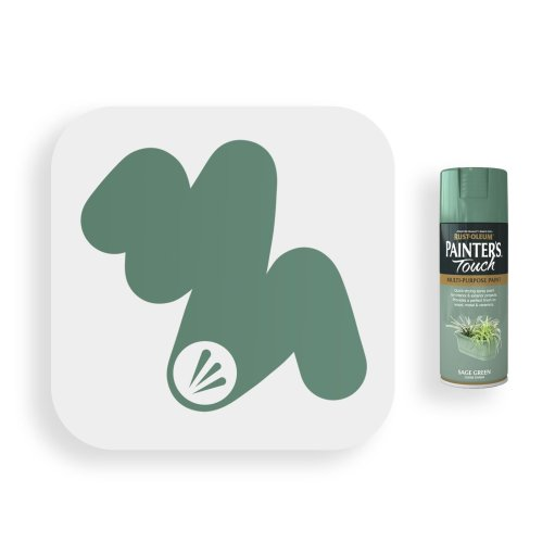 Rust-Oleum-Sage-Green-Gloss-Spray-Paint-400ml-Painters-Touch-Swatch