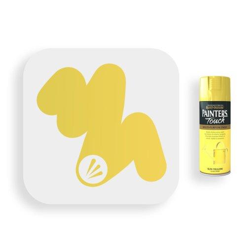 Rust-Oleum-Sun-Yellow-Gloss-Spray-Paint-400ml-Painters-Touch-Swatch