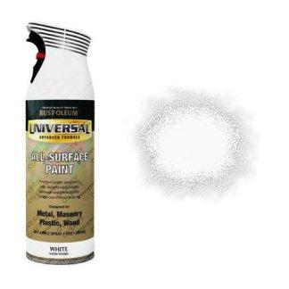 Rust-Oleum White Satin Universal Spray Paint 400ml