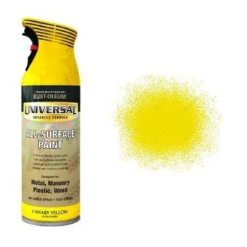 Rust-Oleum Canary Yellow Gloss Universal Spray Paint 400ml