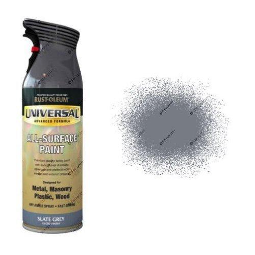 Rust-Oleum Slate Grey Gloss Universal Spray Paint 400ml