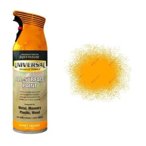 Rust-Oleum Sunset Orange Gloss Universal Spray Paint 400ml