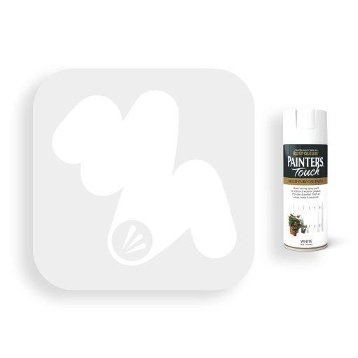 Rust-Oleum-White-Matt-Spray-Paint-400ml-Painters-Touch-Swatch
