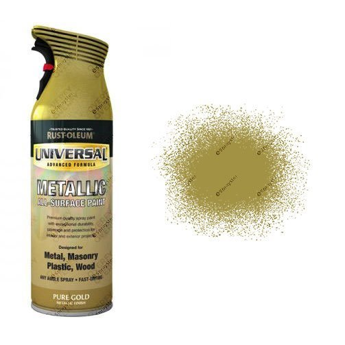 x1-Rust-Oleum-Universal-All-Surface-Spray-Paint-400ml-Pure-Gold-Metallic-391388836530