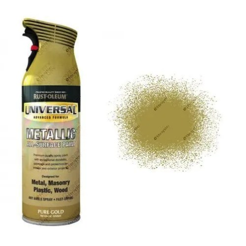 Rust-Oleum Pure Gold Metallic Universal Spray Paint 400ml