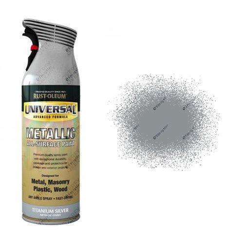 Rust-Oleum Titanium Silver Metallic Universal Spray Paint 400ml