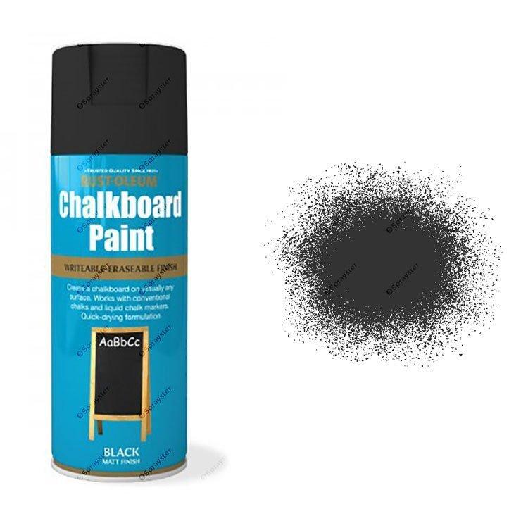 Rust-Oleum-Black-Chalkboard-Spray-Paint-Matt-Blackboard-400ml