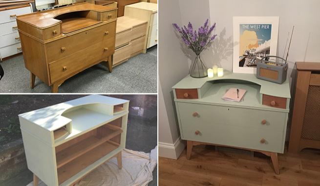 laurel green furniture brush paint 125ml rust oleum chalky shabby chic sprayster. Black Bedroom Furniture Sets. Home Design Ideas
