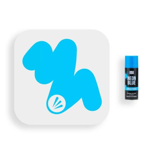 151-Fluorescent-Neon-Blue-Spray-Paint-200ml-Swatch
