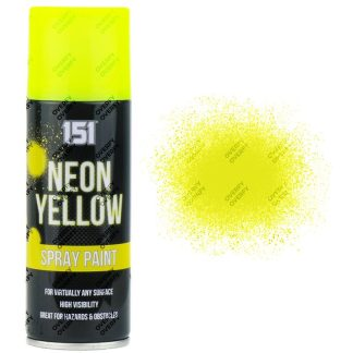 151 Fluorescent Neon Yellow Spray Paint 200ml