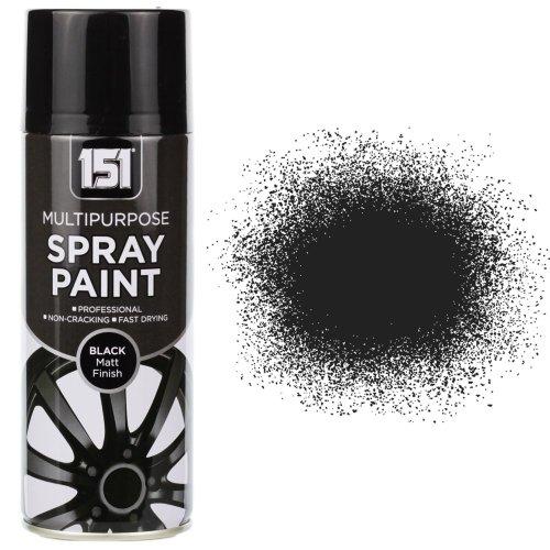 400ml 151 Black Matt Spray Paint