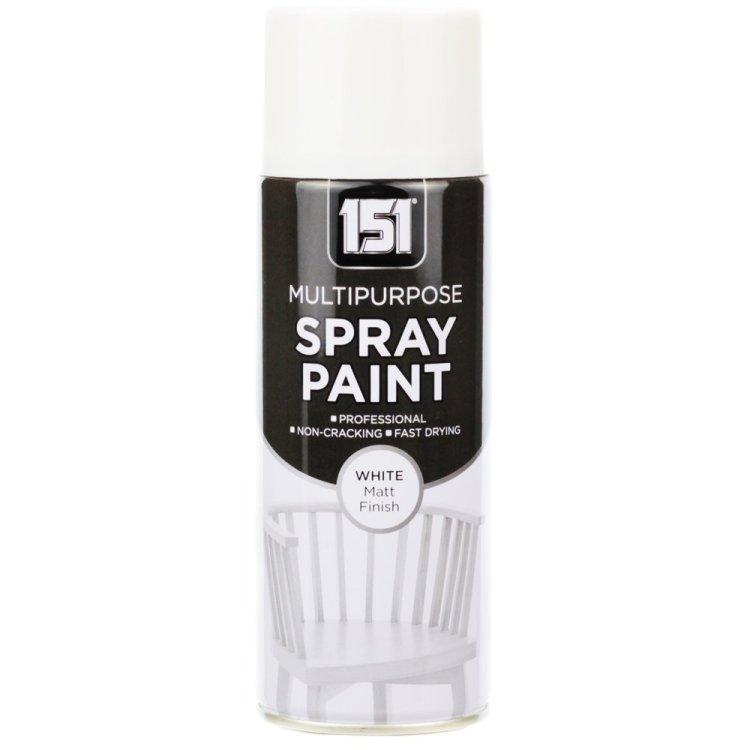 400ml 151 White Matt Spray Paint
