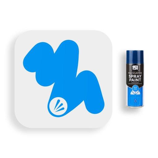 400ml-151-Blue-Gloss-Spray-Paint-Swatch