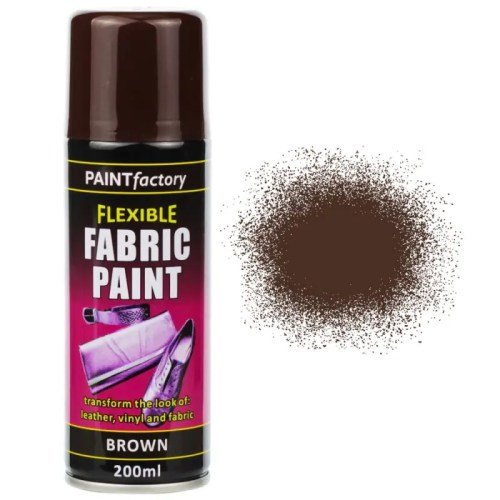 Brown Fabric Spray Paint 200ml Flexible Clothes Aerosol