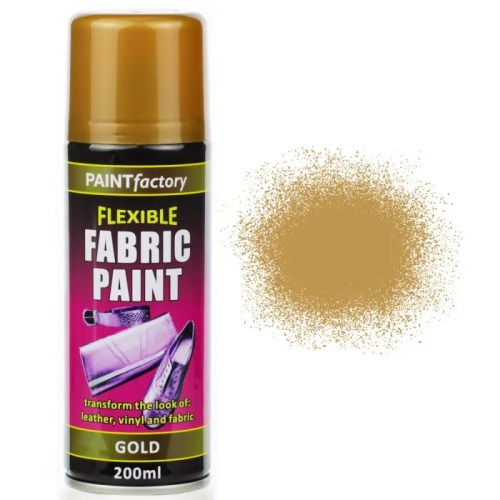 Gold Fabric Spray Paint 200ml Flexible Clothes Aerosol