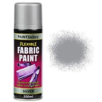 Silver Fabric Spray Paint 200ml Flexible Clothes Aerosol