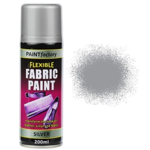 Silver Fabric Spray Paint 200ml Flexible Clothes Aerosol
