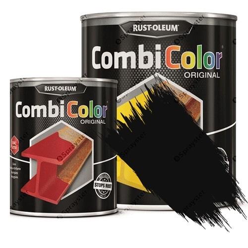 Direct-To-Metal-Paint-Rust-Oleum-CombiColor-Original-Matt-Black-Sprayster