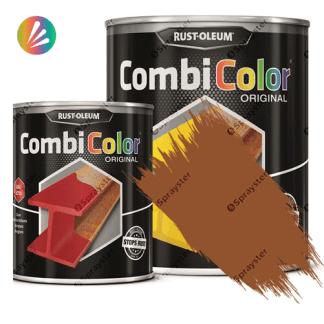 Direct-To-Metal-Paint-Rust-Oleum-CombiColor-Original-Satin-750ml-Sprayster-Brown