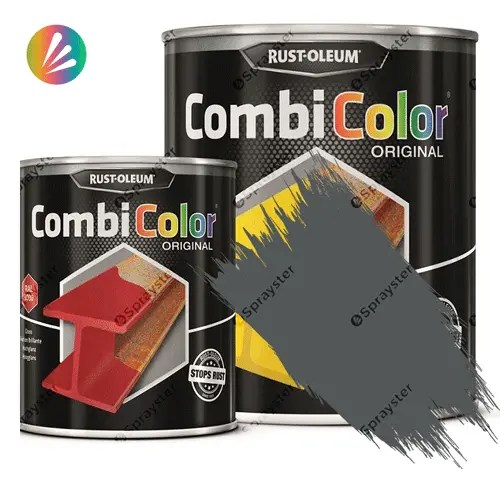 Direct-To-Metal-Paint-Rust-Oleum-CombiColor-Original-Satin-750ml-Sprayster-Dark-Grey