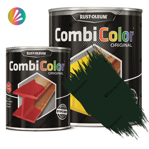 Direct-To-Metal-Paint-Rust-Oleum-CombiColor-Original-Satin-750ml-Sprayster-Fir-Green
