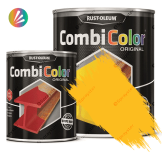 Direct-To-Metal-Paint-Rust-Oleum-CombiColor-Original-Satin-750ml-Sprayster-Gold