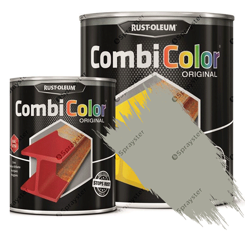 Direct-To-Metal-Paint-Rust-Oleum-CombiColor-Original-Satin-750ml-Sprayster-Light-Grey-b