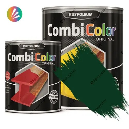 Direct-To-Metal-Paint-Rust-Oleum-CombiColor-Original-Satin-750ml-Sprayster-Moss-Green