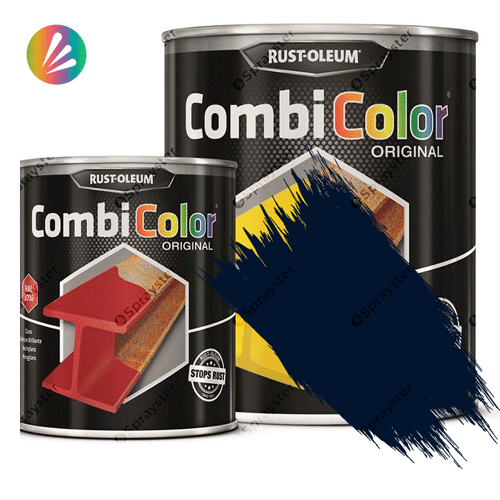 Direct-To-Metal-Paint-Rust-Oleum-CombiColor-Original-Satin-750ml-Sprayster-Steel-Blue