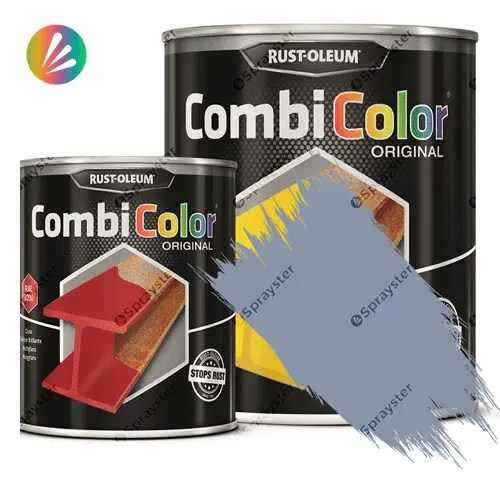 Direct-To-Metal-Paint-Rust-Oleum-CombiColor-Original-Satin-750ml-Sprayster-Steel-Grey