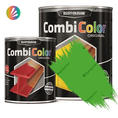 Direct-To-Metal-Paint-Rust-Oleum-CombiColor-Original-Satin-750ml-Sprayster-Yellow-Green